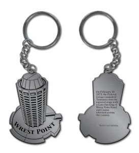 Wrest Point Custom Key Ring Design
