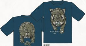 Custom Designed Wombat T-Shirt - Hungry Wombat Cafe